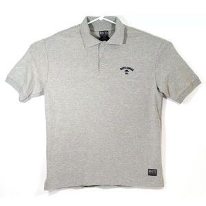 Roots Athletics Mens M Gray Polo Embroidered Logo